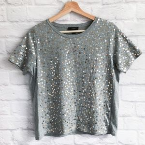 J. Crew Metallic Sequin T-shirt